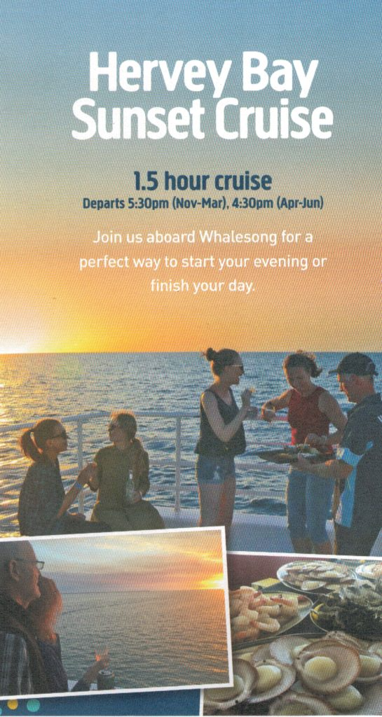 Hervey Bay Sunset Cruise with Whalesong Cruises